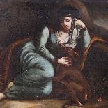 Dipinto antico olio su tela raffigurante Nobildonna-3