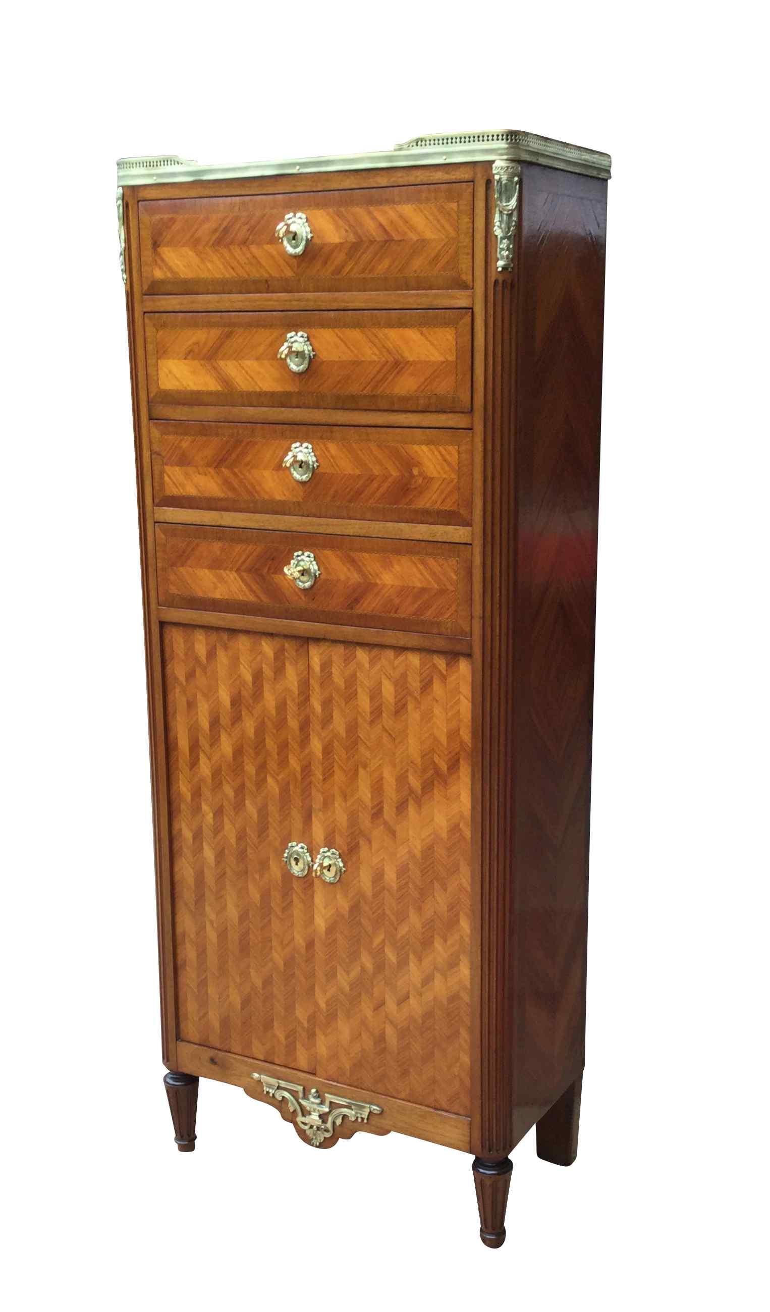meuble commode deux portes style louis xvi