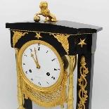 Ancien Horloge Pendule Empire en bronze et marbre - 19ème-5