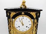 Ancien Horloge Pendule Empire en bronze et marbre - 19ème-3