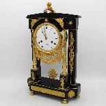 Ancien Horloge Pendule Empire en bronze et marbre - 19ème-2