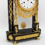 Ancien Horloge Pendule Empire en bronze et marbre - 19ème-10