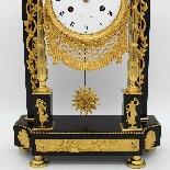 Ancien Horloge Pendule Empire en bronze et marbre - 19ème-9