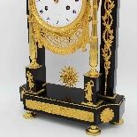 Ancien Horloge Pendule Empire en bronze et marbre - 19ème-11