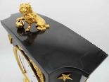 Ancien Horloge Pendule Empire en bronze et marbre - 19ème-12