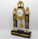 Antique Empire Pendulum Clock in bronze and marble - 19th-2