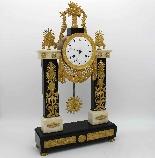 Antique Empire Pendulum Clock in bronze and marble - 19th-1