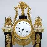 Antique Empire Pendulum Clock in bronze and marble - 19th-3