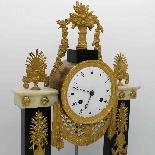 Antique Empire Pendulum Clock in bronze and marble - 19th-4