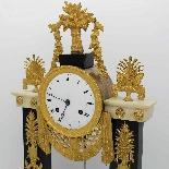 Antique Empire Pendulum Clock in bronze and marble - 19th-5