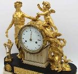 Antique Louis XVI Pendulum Clock in bronze - 18th century-1