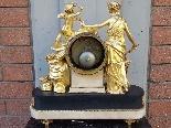 Antique Louis XVI Pendulum Clock in bronze - 18th century-0