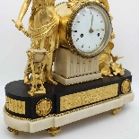 Antique Louis XVI Pendulum Clock in bronze - 18th century-3