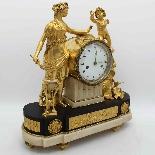 Antique Louis XVI Pendulum Clock in bronze - 18th century-6