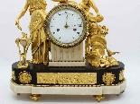 Antique Louis XVI Pendulum Clock in bronze - 18th century-7