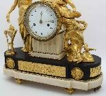 Antique Louis XVI Pendulum Clock in bronze - 18th century-9