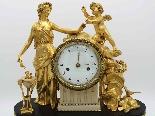 Antique Louis XVI Pendulum Clock in bronze - 18th century-12