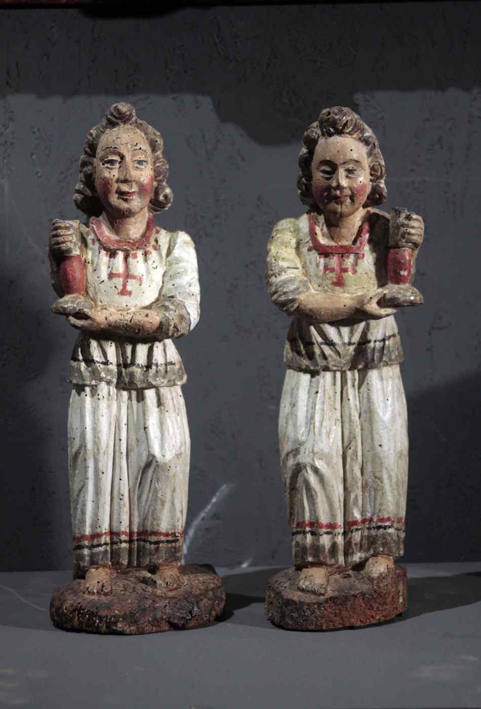 Paire de candélabres d'anges, Sienne, sec. XV