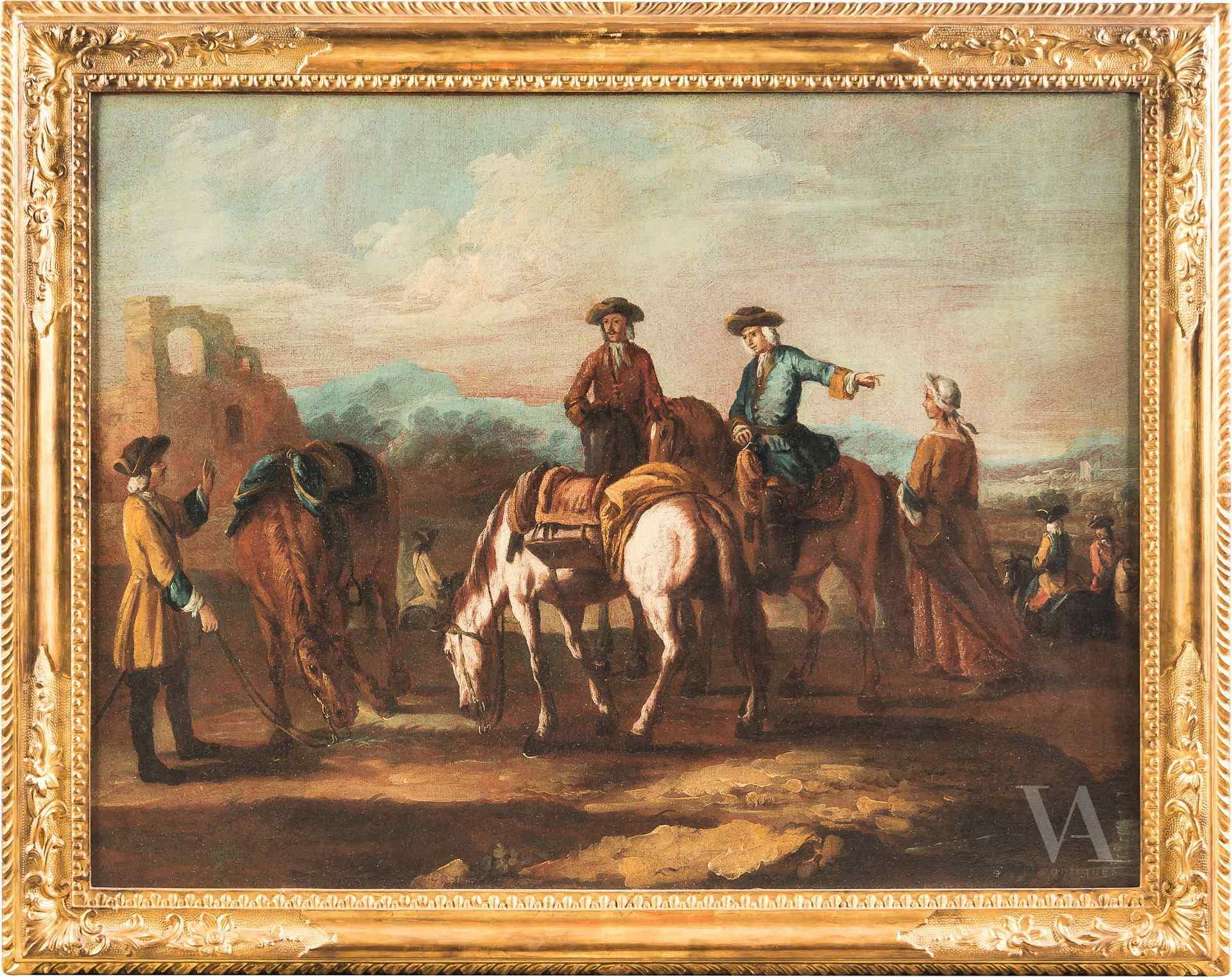 Giuseppe Zais, Cavalieri in sosta, XVIII sec.