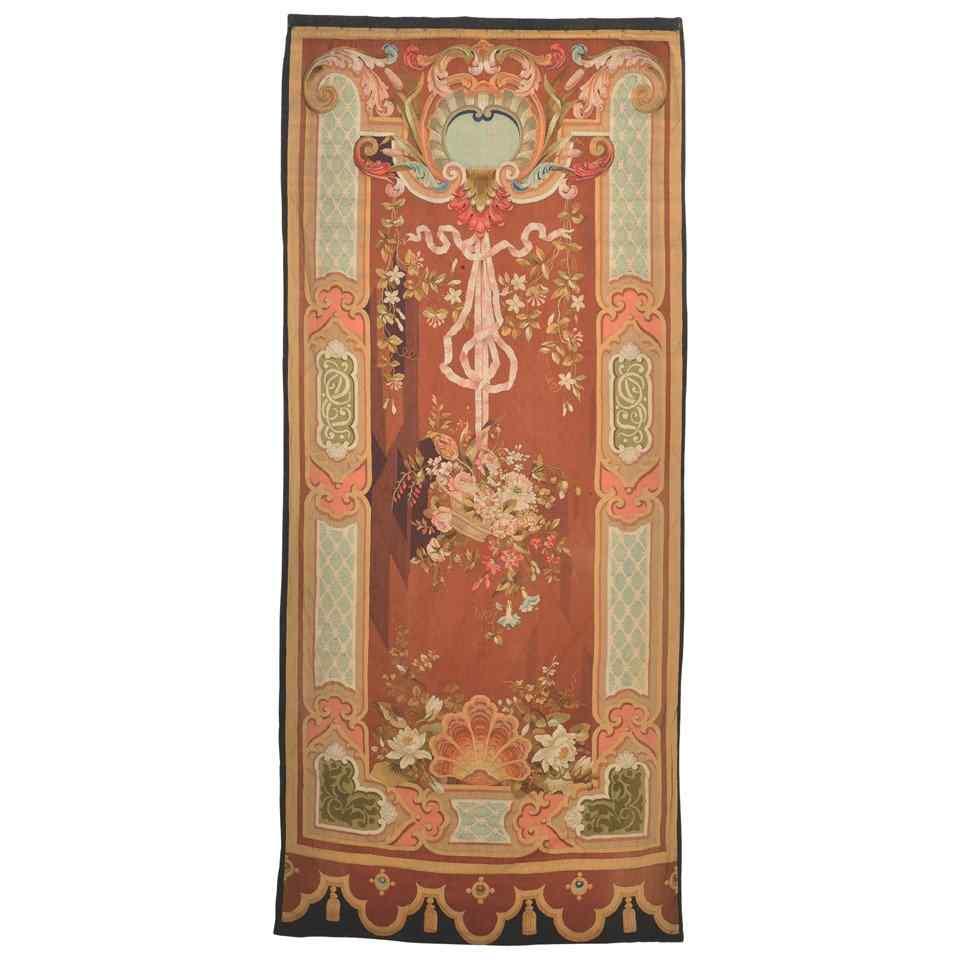 Aubusson tapestry half 18th century