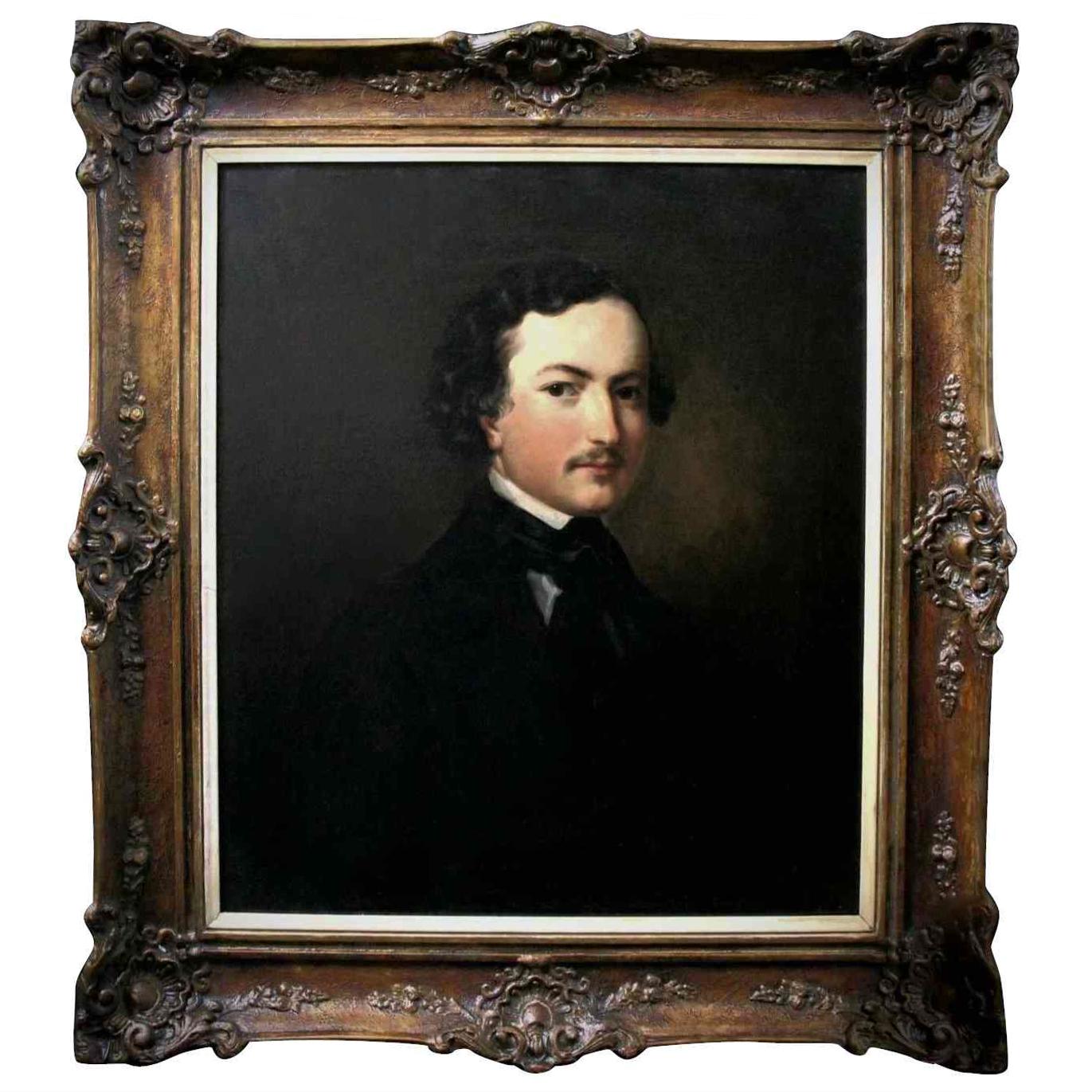 fine art oil painting, portrait of a gentleman American
