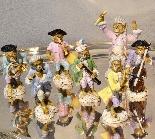 Porcelain monkey orchestra - Germany, end of '800-7