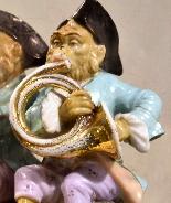 Porcelain monkey orchestra - Germany, end of '800-6