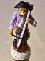 Porcelain monkey orchestra - Germany, end of '800-9