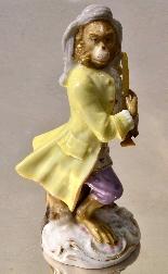 Porcelain monkey orchestra - Germany, end of '800-8