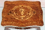 Antique Napoleon III small Table Bedside inlaid-19th-7