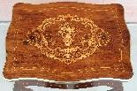 Ancien petite Table Napoleon III en marqueterie-19ème siècle-7