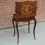 Antique Napoleon III small Table Bedside inlaid-19th-4