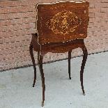 Ancien petite Table Napoleon III en marqueterie-19ème siècle-4