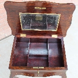 Ancien petite Table Napoleon III en marqueterie-19ème siècle-9