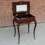 Ancien petite Table Napoleon III en marqueterie-19ème siècle-6