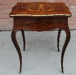 Ancien petite Table Napoleon III en marqueterie-19ème siècle-5