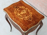 Antique Napoleon III small Table Bedside inlaid-19th-8