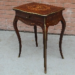 Antique Napoleon III small Table Bedside inlaid-19th-2