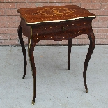 Antique Napoleon III small Table Bedside inlaid-19th-1