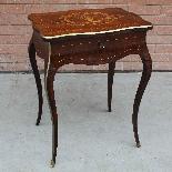 Ancien petite Table Napoleon III en marqueterie-19ème siècle-1
