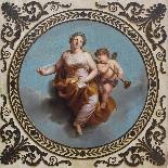 XIXe siècle Gloria à l'amorino ailé Huile sur panneau-0