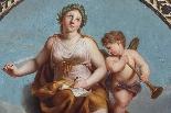 XIXe siècle Gloria à l'amorino ailé Huile sur panneau-1