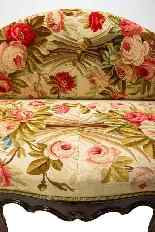 Louis XV sofa covered with 18th century Aubusson tapestry-4