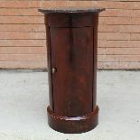 Antico Tavolino Comodino a Cilindro Impero in mogano-XIX sec-1