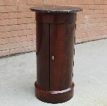 Antico Tavolino Comodino a Cilindro Impero in mogano-XIX sec-2