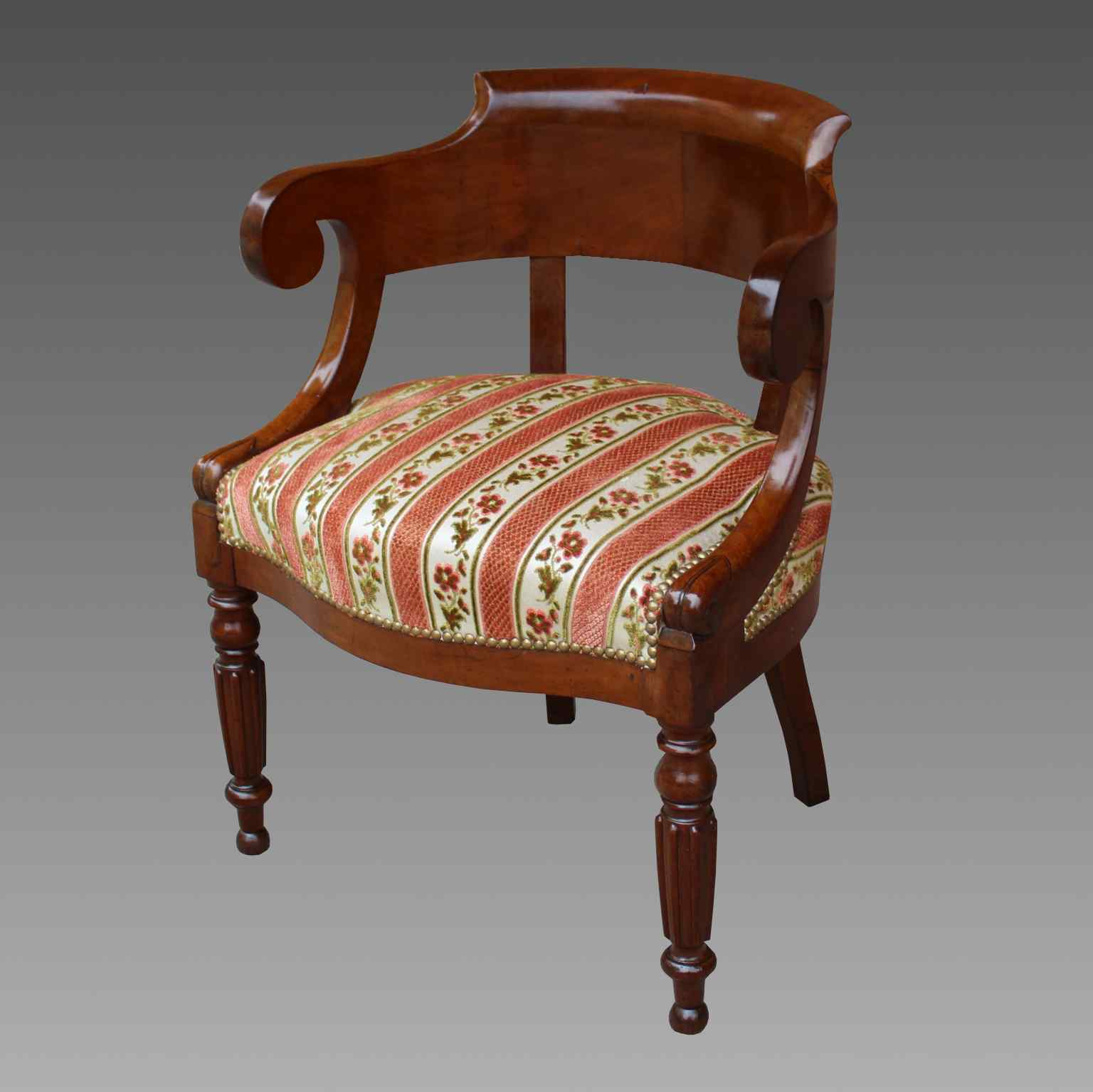 Antique Charles X Armchair in mahogany - 19th century