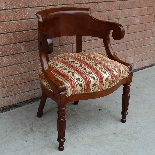 Antique Charles X Armchair in mahogany - 19th century-2