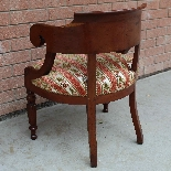 Antique Charles X Armchair in mahogany - 19th century-7
