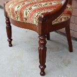 Antique Charles X Armchair in mahogany - 19th century-10
