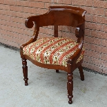 Antique Charles X Armchair in mahogany - 19th century-5